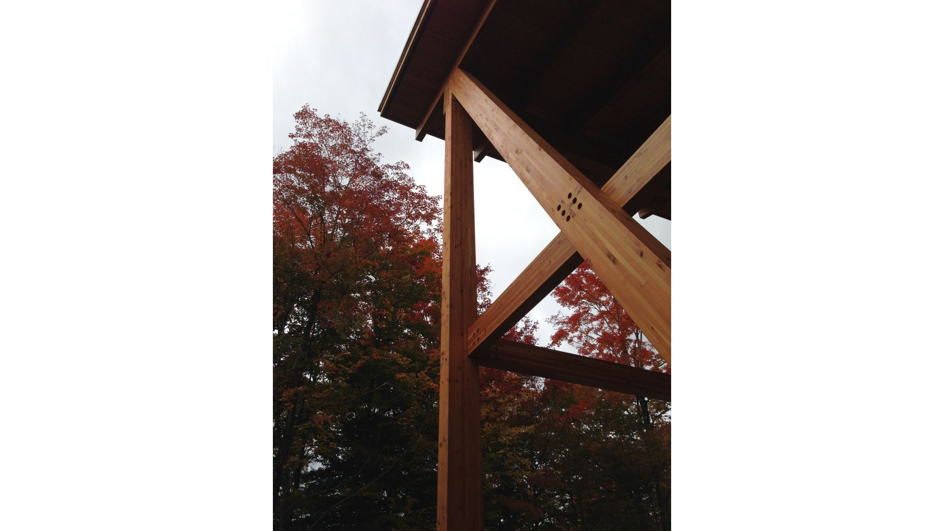 For The Manufacturer (La Charpenterie Du Quebec), We Validated Dimensions  Of The Glulam (glue Laminated Wood) Frame And Designed All The Hidden Steel  ...