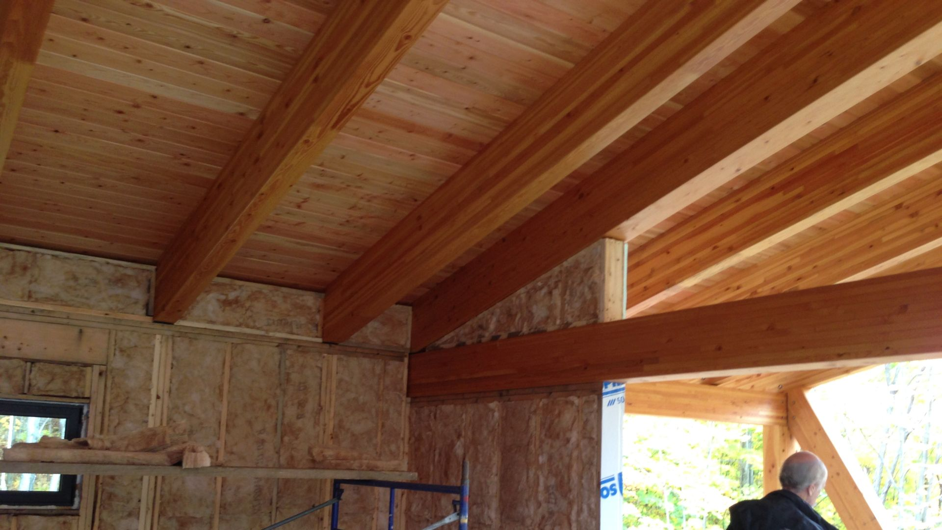Delightful For The Manufacturer (La Charpenterie Du Quebec), We Validated Dimensions  Of The Glulam (glue Laminated Wood) Frame And Designed All The Hidden Steel  ...