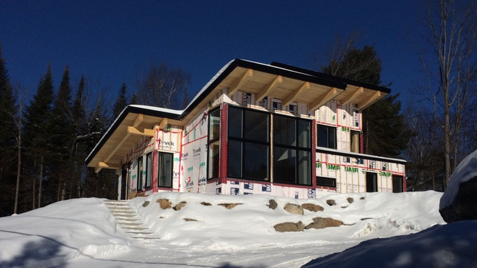 Good For The General Contractor, We Engineered The Structure Of This Glulam  Chalet Of Ste Adèle.